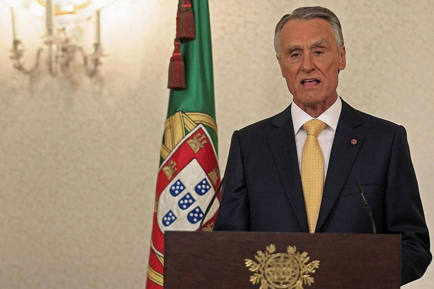 Portugal's President Anibal Cavaco Silva makes a statement to the press at Belem presidential palace in Lisbon on July 21, 2013. President Anibal Cavaco Silva said on Sunday he backed the country's centre-right coalition government and rejected calls