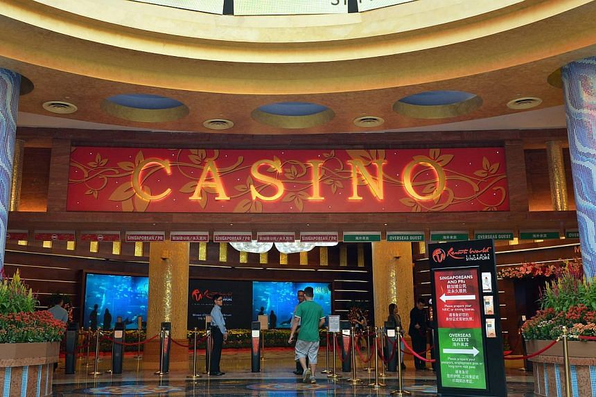 A 36-year-old man has been arrested for attempting to enter the Resorts World Sentosa  casino (above) using his friend's identification document.  -- ST FILE PHOTO: KUA CHEE SIONG