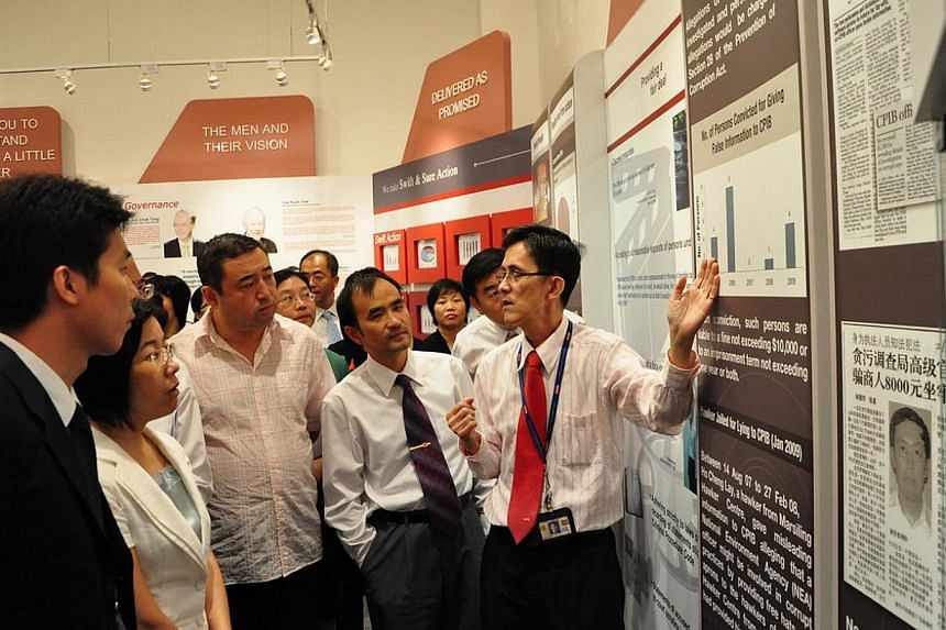 Chinese officials of the Mayors' Class from the Nanyang Technological University (NTU) visiting the Corrupt Practices Investigation Bureau. The Mayor's Class refers to the Master of Science in Managerial Economics and the Master of Public Adminis