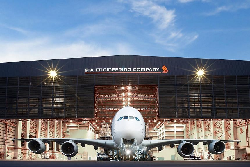 Singapore Airlines Engineering (SIAEC) aircraft hanger capable of handling the A380. Shares in SIA Engineering fell as much as 4.3 per cent to the lowest in one month after a 19.5 per cent drop in the company's first-quarter operating profit sparked