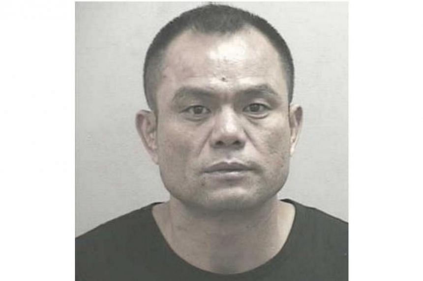 Tigerair passenger Li Xiangyang (above), who stole a laptop bag from another passenger onboard a flight, was jailed for nine months on Thursday, July 25, 2013. -- PHOTO: SINGAPORE POLICE FORCE