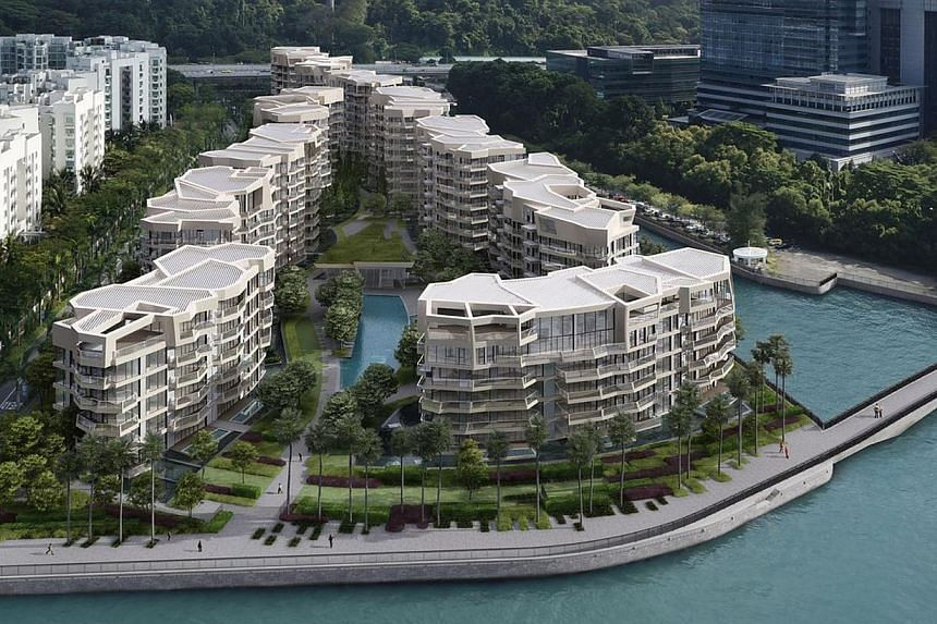 An artist's impression of Corals at Keppel Bay, a residential condominium project which launched 160 units and sold 141 units in the second quarter of this year. -- PHOTO: KEPPEL