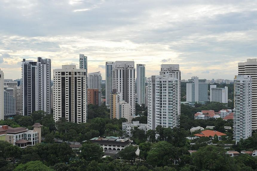 Condominiums in the Ardmore Park area.Private home prices in Singapore rose 1 per cent in the second quarter, final figures from the Urban Redevelopment Authority showed on Friday. -- ST PHOTO: ALPHONSUS CHERN