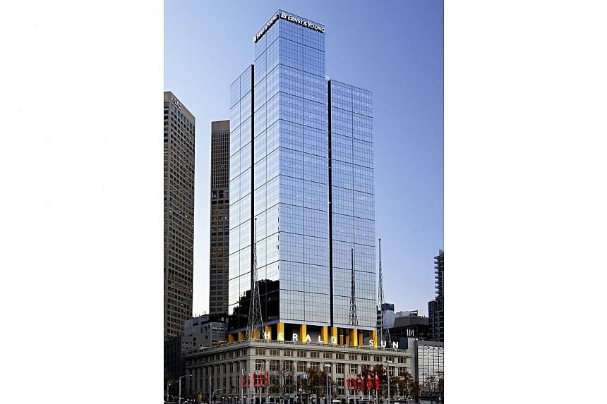 Keppel Reit is seeking to raise funds for the acquisition of 8 Exhibition Street building (above) in Australia by selling new units in the trust. -- PHOTO: KEPPEL CORPORATION LIMITED