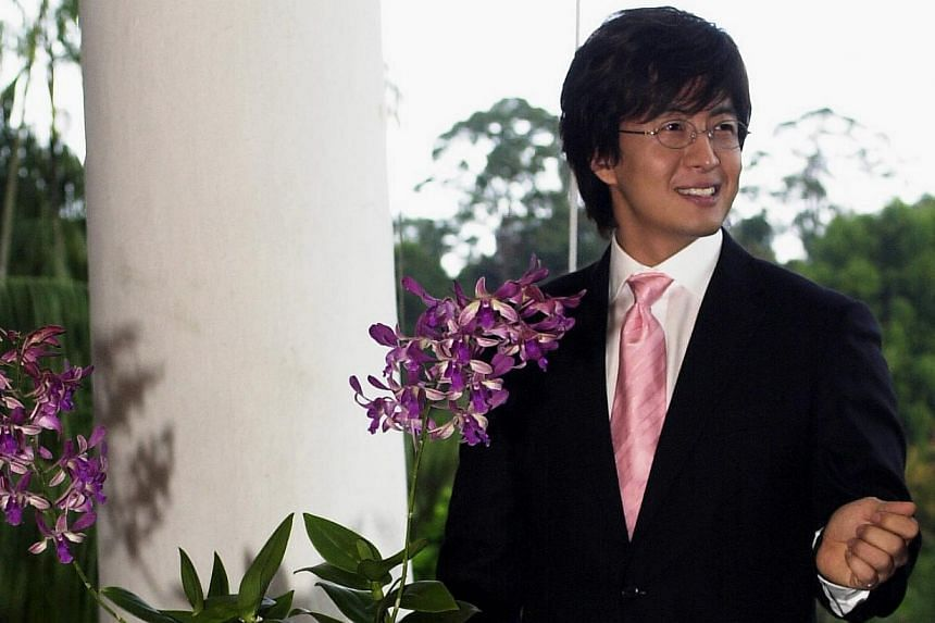 South Korean star Bae Yong Jun has an orchid named after him, at the National Orchid Garden. -- TNP FILE PHOTO: HEDY KHOO