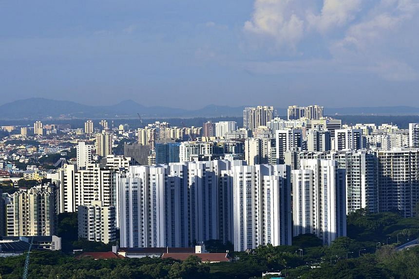 CapitaLand said prices and sales volume of the  residential property sector in Singapore are expected to  moderate as the cumulative impact of the various  cooling measures is played out in the coming months. ST FILE PHOTO