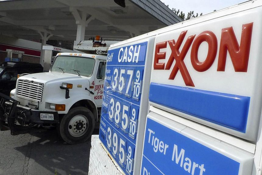 An Exxon gas station is pictured in Arlington, Virginia on Jan 31, 2012. A United States (US) appeals court on Friday upheld a ruling against Exxon Mobil Corp ordering the company to pay U$105 million (S$133 million) in damages for polluting New