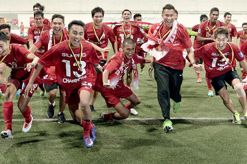 The LionsXII players celebrate winning the Malaysian Super League after defeating Felda United at the Jalan Besar Stadium on July 2, 2013.The LionsXII have been grouped with old foes Kedah, Perak and Sarawak for the upcoming Malaysia Cup campai