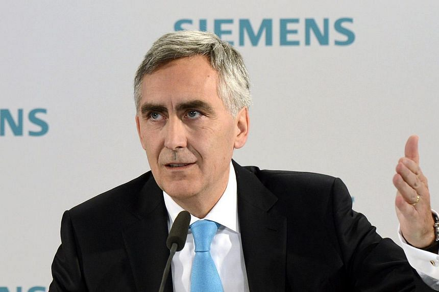 Picture taken on January 23 , 2013 shows Peter Loescher, CEO of German industrial giant Siemens attending a press conference ahead of the company's shareholders meeting in Munich, southern Germany. Loescher will be replaced as Siemens CEO as the comp