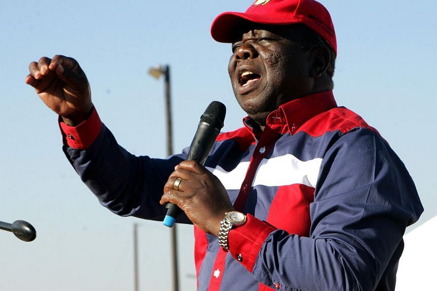 Zimbabwe's Prime minister and leader of the Movement for Democratic Change (MDC), Morgan Tsvangirai, addresses an election campaign rally in Chinhoyi on July 27, 2013. Zimbabwean Prime Minister Morgan Tsvangirai on Saturday warned President Robert Mu