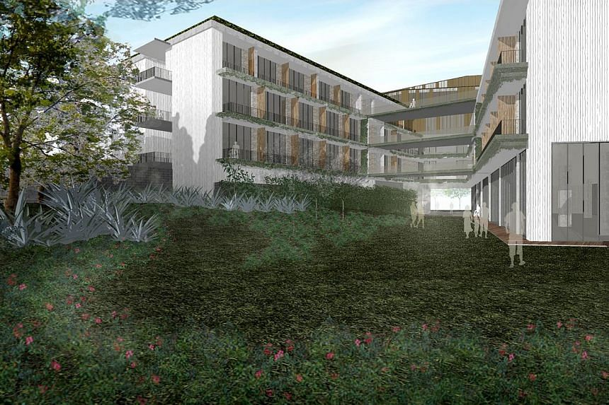 Artist's impression of the new Assisi Hospice, which will be located close to its current Thomson Road site. When the new and much bigger Assisi Hospice opens in 2016, it will have Singapore's first dedicated paediatric and dementia wards.--