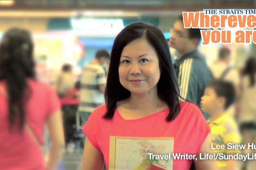 Life! and Sunday Life! Travel Writer Lee Siew Hua.Veteran Straits Times (ST) journalists will go on radio and pop up on bus shelter ads as well as electronic screens at shopping malls and office buildings. -- PHOTO: RAZOR TV