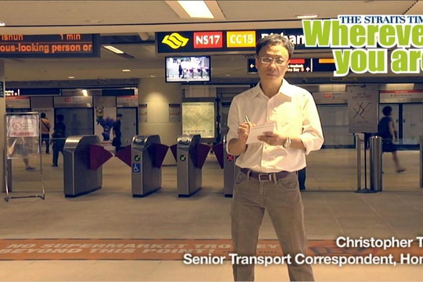 Home Senior Transport Correspondent Christopher Tan.Veteran Straits Times (ST) journalists will go on radio and pop up on bus shelter ads as well as electronic screens at shopping malls and office buildings. -- PHOTO: RAZOR TV