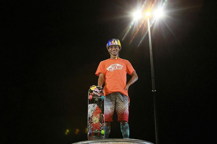 Mohammad Farris Abdul Rahman believes anything is possible as long as you put your mind to it.He has come a long way himself since picking up skateboarding in Bishan Park when he was just four.-- ST PHOTO: MARK CHEONG