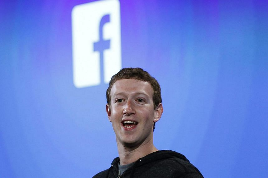 Mr Mark Zuckerberg, Facebook's co-founder and chief executive speaks during a Facebook press event in Menlo Park, California, on April 4, 2013. Facebook Inc's stock on Tuesday came within a hair's breadth of reclaiming its US$38 (S$48) debut price fo