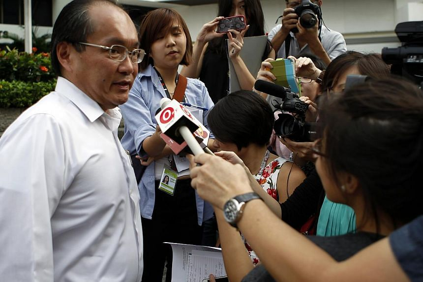 Former Member of Parliament for Joo Chiat Chan Soo Sen was disqualified from driving for a year and fined $2,000 for drink driving. -- ST PHOTO: WONG KWAI CHOW