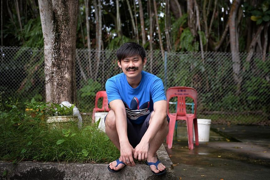 Mr Franster Wong, 27, a salesman and part-time YouTube actor with Night Owl Cinematics who is known for his hokkien-speaking Ah Beng-type roles. --ST FILE PHOTO: DESMOND LIM