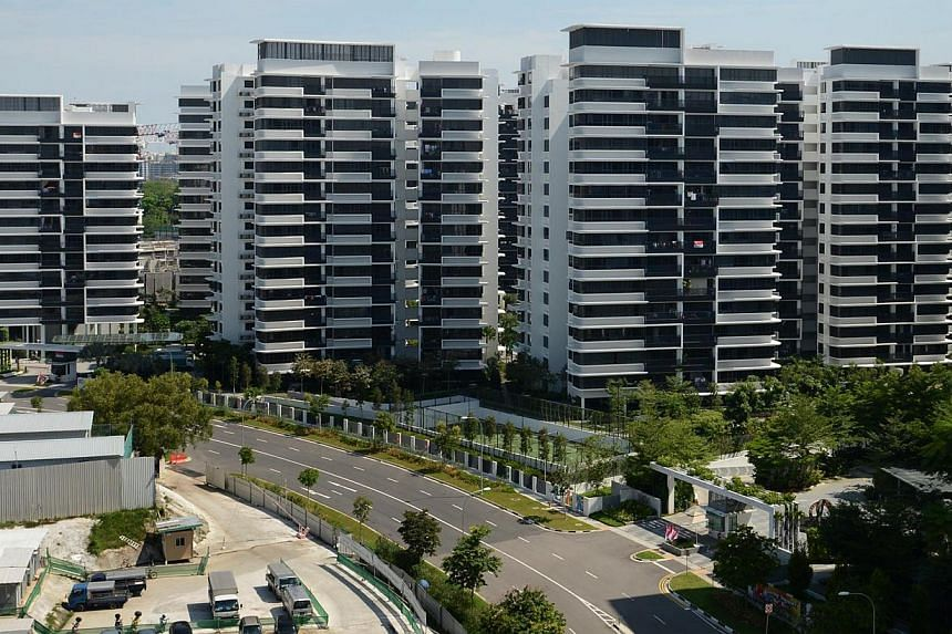 At NV Residences in Pasir Ris (above), rents for three-bedroom units have fallen to less than $3,500 a month from $4,000. -- ST PHOTO: RAJ NADARAJAN