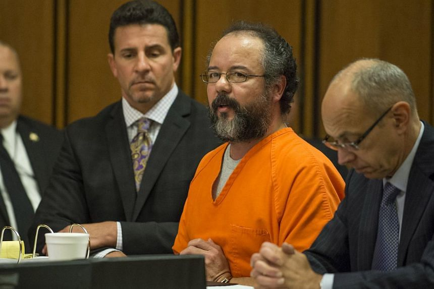 Ariel Castro pleads to Judge Michael Russo during his sentencing on Aug 1, 2013 in Cleveland, Ohio. Castro was sentenced to life in prison with no chance of parole on Thursday for kidnapping three women and holding them captive for a decade in his Oh