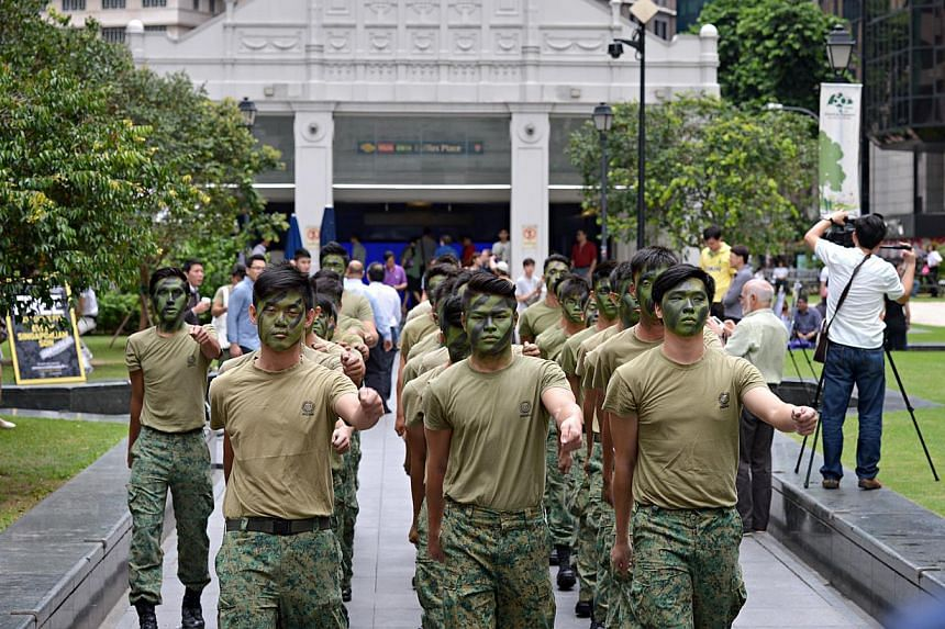 A promotional event for a documentary about the Singapore army that took place on Friday afternoon has drawn some flak. -- ST PHOTO: NURIA LING