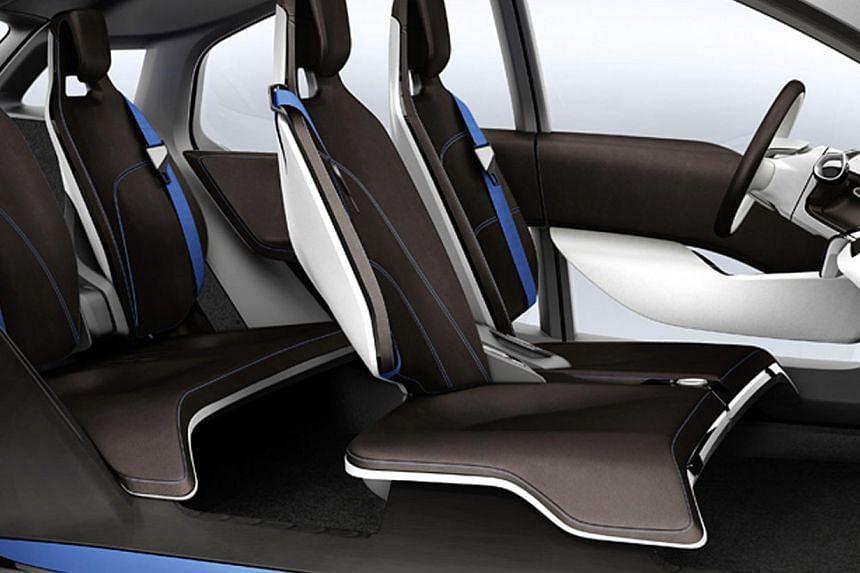 Interior of the BMW i3 Concept. -- PHOTO: BMW