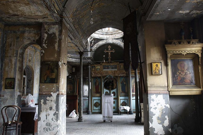 St. Elijah Church is seen empty following a service in Istanbul on Aug 2, 2013. -- PHOTO: REUTERS