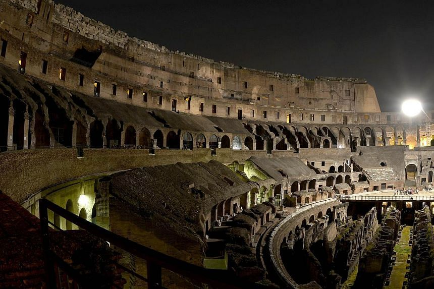 The inside of the Colosseum is seen in Rome on Thursday, May 2, 2013. -- FILE PHOTO: AFP