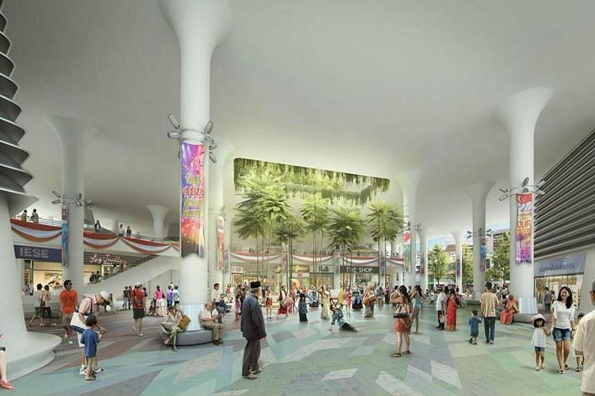Artist's impression of the new Woodlands people's plaza for the community. -- PHOTO: MND
