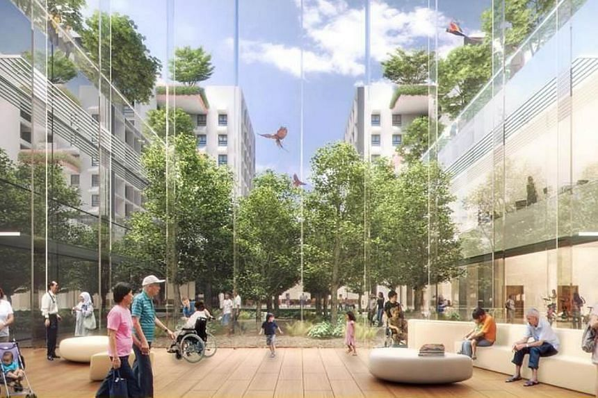 Artist's impression of the new Woodlands medical centre. -- PHOTO: MND