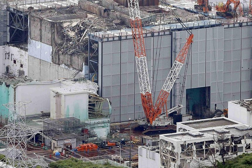 The No. 3 reactor building at Tokyo Electric Power's (Tepco) tsunami-crippled Fukushima nuclear power plant in Fukushima prefecture on July 18, 2013. Radioactive groundwater at the crippled nuclear plant has risen to levels above a barrier being buil