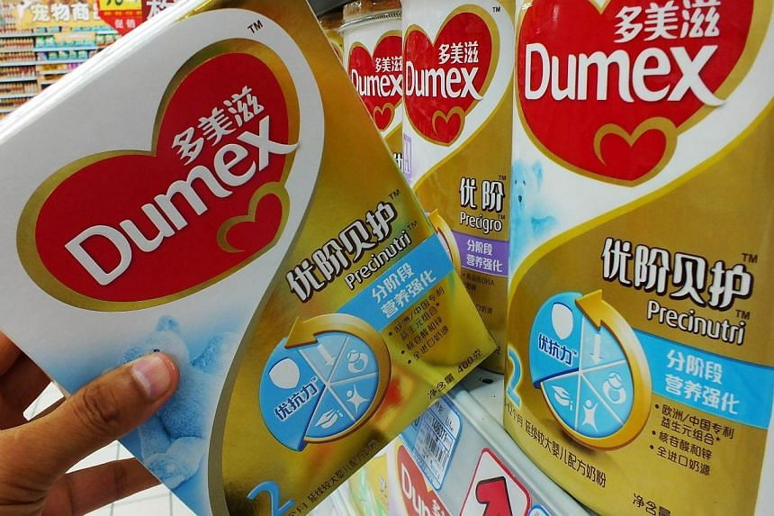 This illustration shows Dumex baby formula which uses the New Zealand dairy Fonterra as its raw material supplier at a store in Yichang, in central China's Hubei province on Aug 5, 2013. New Zealand's Fonterra said on Monday that milk products from t
