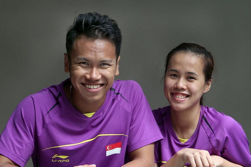 Singapore shuttlers Vanessa Neo (right) and Danny Bawa Chrisnanta's campaign at the badminton world championships have come to an end, after the mixed doubles pair lost in their opening match to South Korea's Shin Baek Choel and Eom Hye Won on Tuesda