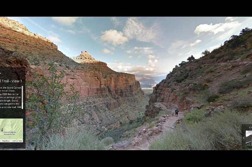 The Grand Canyon's Bright Angel Trail in the United States.
