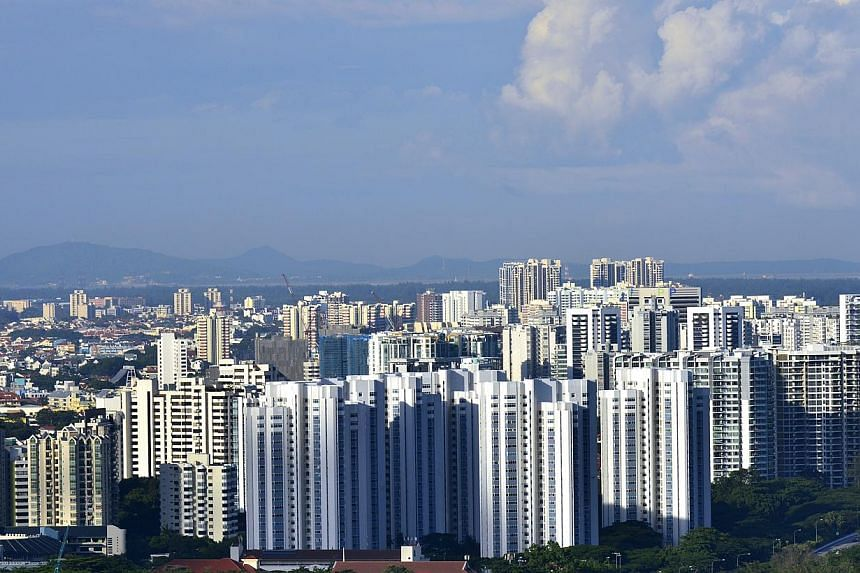 Prices of non-landed resale private homes stayed mostly flat last month. -- ST FILE PHOTO: CAROLINE CHIA