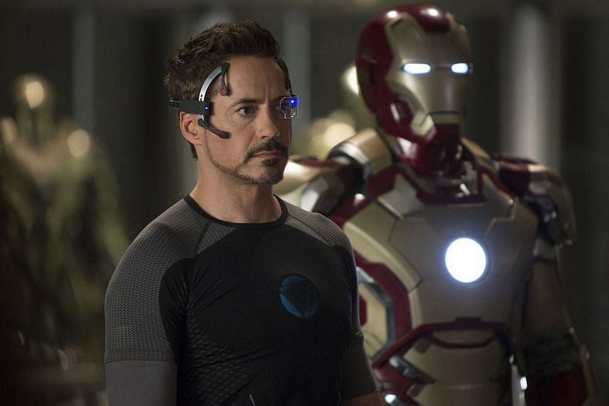Walt Disney Co posted a slightly higher quarterly profit that beat Wall Street expectations, even though its movie studio earnings declined as hit film Iron Man 3 (cinema still in photo) failed to match the spectacular success of last year's The Aven