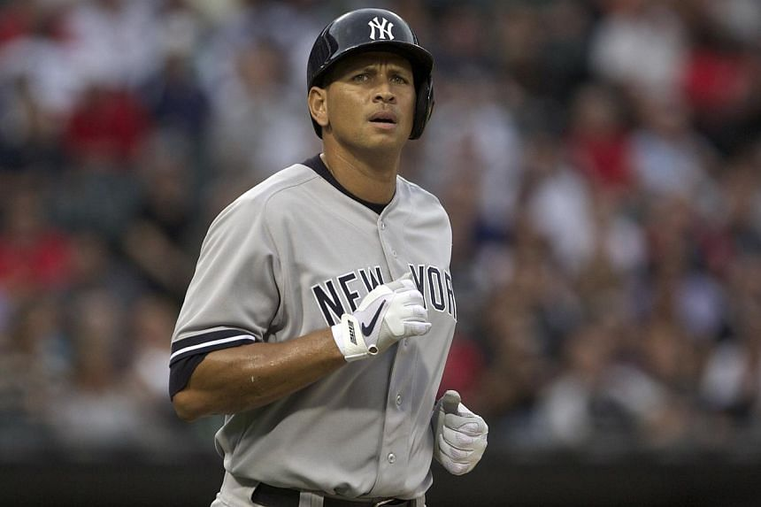 New York Yankee's Alex Rodriguez reacts to being walked while playing against the Chicago White Sox in the first inning of their American League MLB baseball game in Chicago on Tuesday, Aug 6, 2013. Rodriguez, slapped with a 211-game ban earlier this