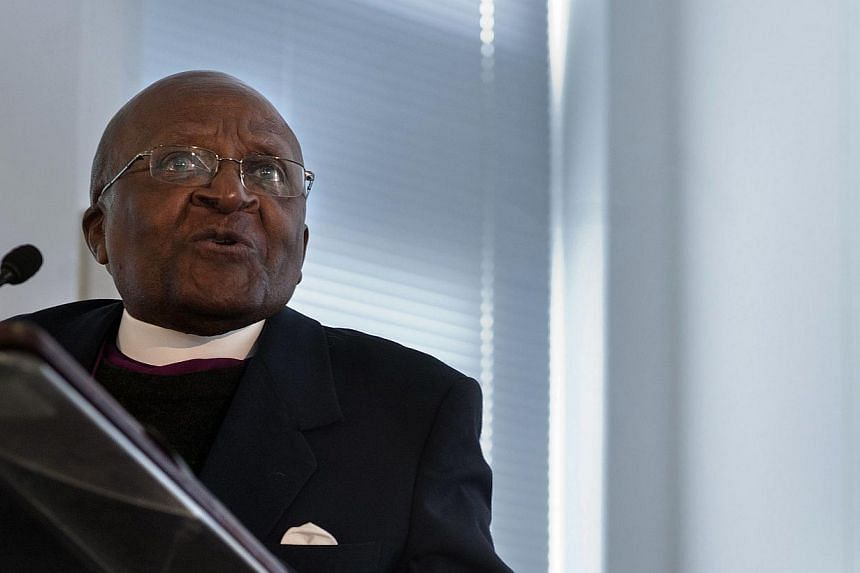 "Nobel Peace Prize winner Desmond Tutu had his Twitter account suspended on Thursday for ""aggressively following"" other users, just hours after it was launched. -- FILE PHOTO: AFP"