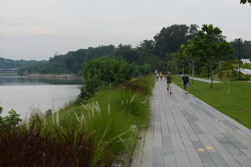 ST's Run in the Park will be held on Aug 25 along Punggol Waterway. It is organised by ST as part of the Straits Times Appreciates Readers programme to reach out to the community. -- ST PHOTO: RAJ NADARAJAN