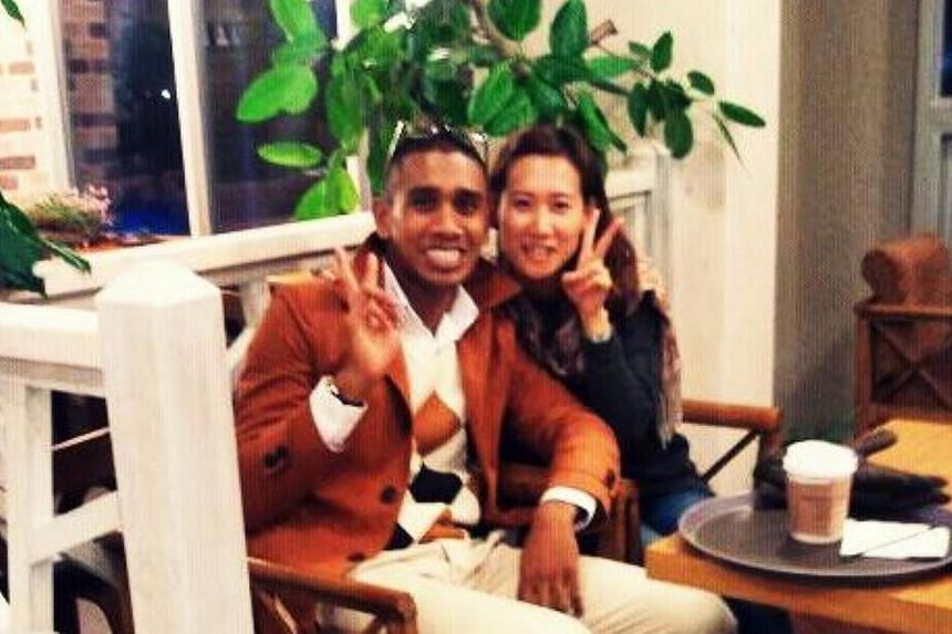 Singaporean Amron Ayoub (left) and his Korean girlfriend Jamie Song were killed in an accident on the Central Expressway in the wee hours of Friday morning. -- PHOTO: FACEBOOK OF AMRON AYOUB