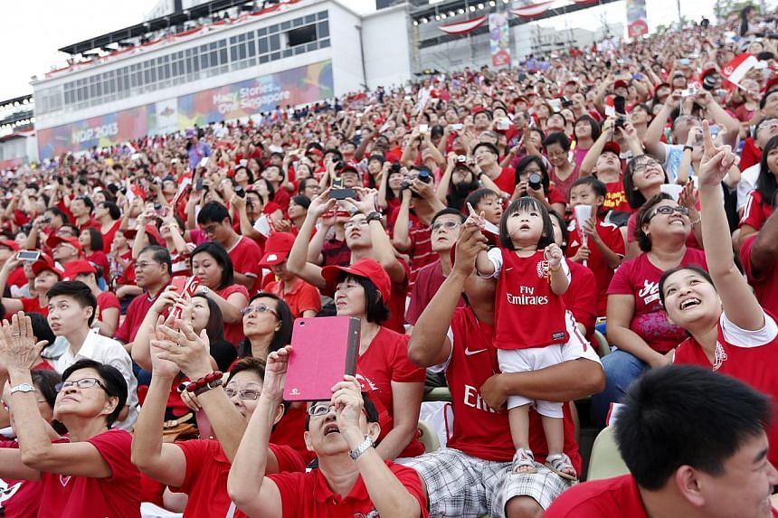 A scene from the National Day Parade. --ST PHOTO:DESMOND LUI