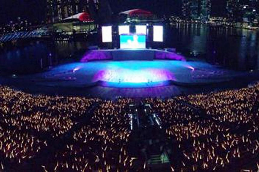 A panoramic view of the National Day Parade. -- PHOTO: ST PICTURE DESK