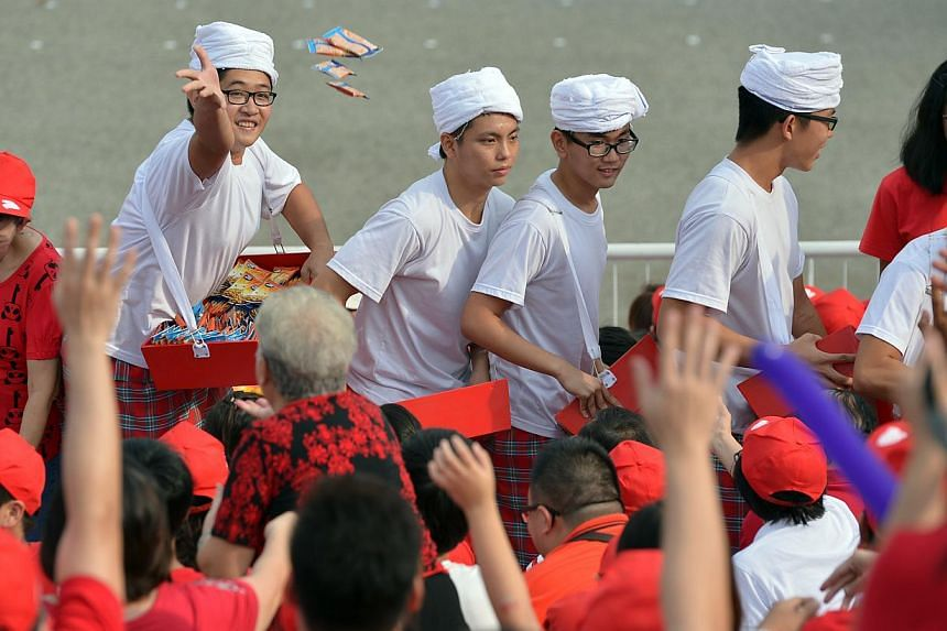 A scene from the National Day Parade. --ST PHOTO: KEVIN LIM