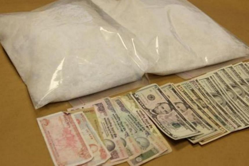 A Vietnamese woman was found with more than four kilograms of a substance suspected to be the drug 'Ice' when she landed at Changi Airport on Saturday morning. -- PHOTO:CENTRAL NARCOTICS BUREAU