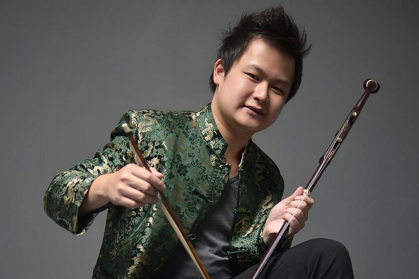 Mr Chew says his fascination with the erhu started when he was young, and he hopes to be a world-class performer one day.