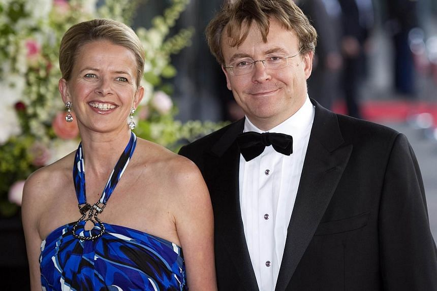 A file picture taken on May 27, 2011, shows Dutch Princess Mabel and Prince Friso arriving at the concert building in Amsterdam, The Netherlands, to attend Princess Maxima's birthday party. Dutch prince Friso, the brother of King Willem-Alexander who