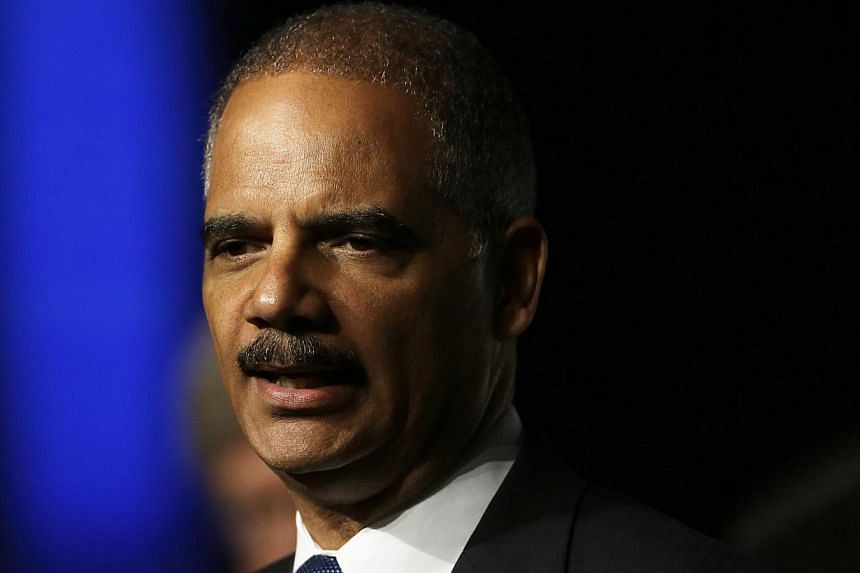 United States Attorney-General Eric Holder speaks to the American Bar Association Annual meeting on Monday, Aug 12, 2013, in San Francisco. The United States has announced plans to reduce its use of mandatory sentences for drug offences in order to t