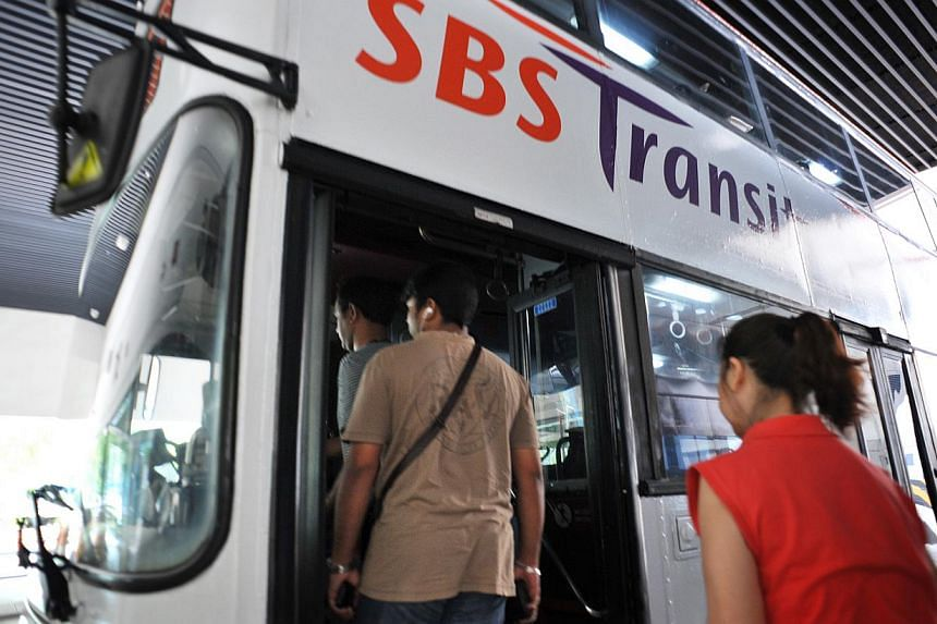 Higher staff costs continued to weigh heavily on transport operator SBS Transit's profitability. -- ST FILE PHOTO: ALPHONSUS CHERN