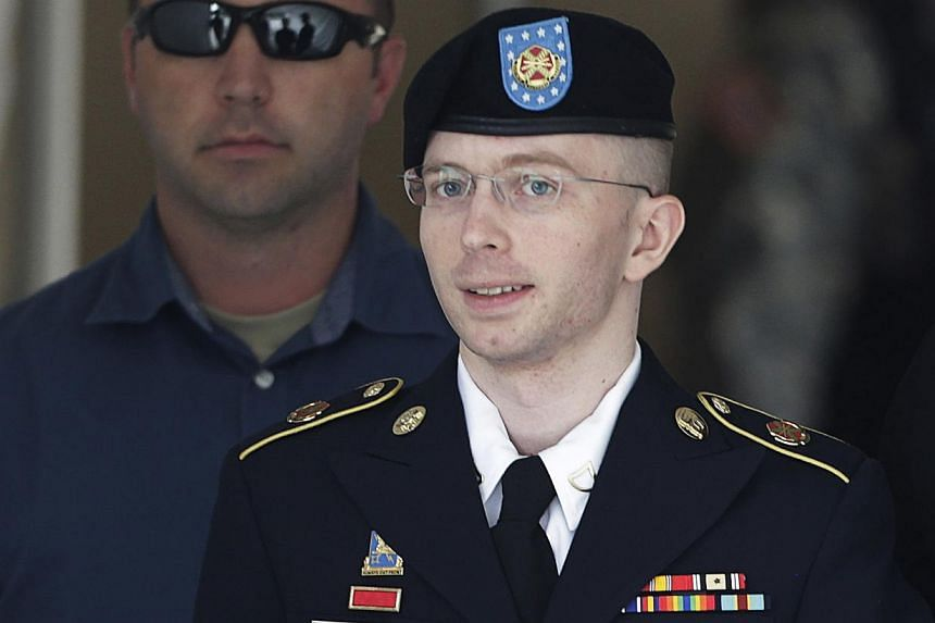 "US Army Private First Class Bradley Manning (right) departs the courthouse at Fort Meade, Maryland, in this July 30, 2013 file photo. WikiLeaks' source Manning was allowed to handle secret intelligence even though he was plagued by ""mental instabilit"