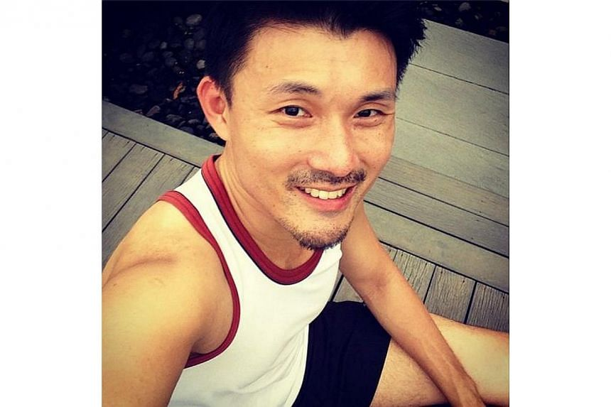Mr Baey snapped a shot of himself refreshed after an evening run on Aug 5. -- PHOTO BY: BAEY YAM KENG