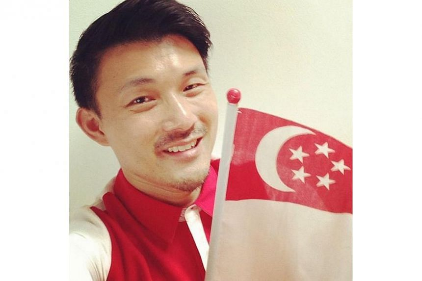 In the spirit of the nation's birthday, Mr Baey wished his 2000 followers a Happy National Day on Aug 9 with a selfie. -- PHOTO BY: BAEY YAM KENG